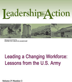 Leading a Changing Workforce: Lessons from the U.S. Army
