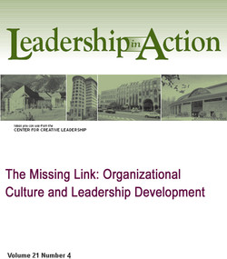 The Missing Link: Organizational Culture and Leadership Development