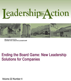 Ending the Board Game: New Leadership Solutions for Companies