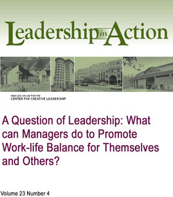 A Question of Leadership: What Can Managers do to Promote Work-life Balance for Themselves and Others?