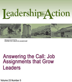 Answering the Call: Job Assignments That Grow Leaders