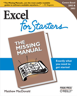 Excel 2003 for Starters: The Missing Manual