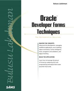 Oracle Developer Forms Techniques