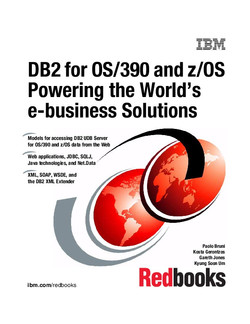 DB2 for OS/390 and z/OS Powering the World's e-business Solutions