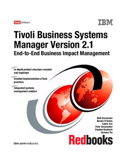 Tivoli Business Systems Manager V2.1 End-to-end Business Impact Management