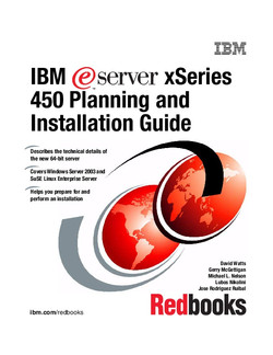 IBM eServer xSeries 450 Planning and Installation Guide