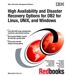 High Availability and Disaster Recovery Options for DB2 for Linux, UNIX, and Windows