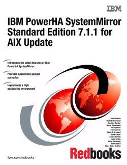 IBM PowerHA SystemMirror Standard Edition 7.1.1 for AIX Update