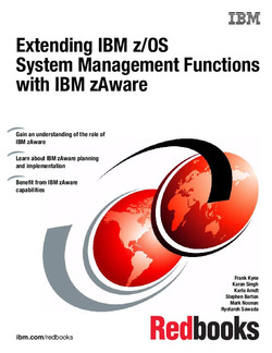 Extending z/OS System Management Functions with IBM zAware