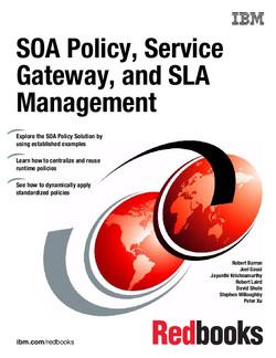SOA Policy, Service Gateway, and SLA Management