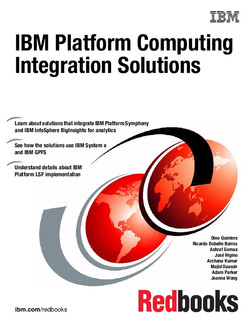 IBM Platform Computing Integration Solutions