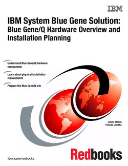 IBM System Blue Gene Solution: Blue Gene/Q Hardware Overview and Installation Planning