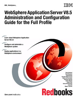 WebSphere Application Server V8.5 Administration and Configuration Guide for the Full Profile