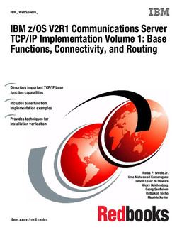IBM z/OS V2R1 Communications Server TCP/IP Implementation Volume 1: Base Functions, Connectivity, and Routing