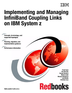 Implementing and Managing InfiniBand Coupling Links on IBM System z