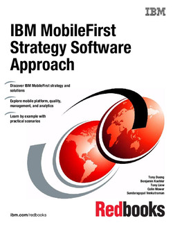 IBM MobileFirst Strategy Software Approach