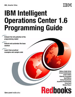 IBM Intelligent Operations Center 1.6 Programming Guide