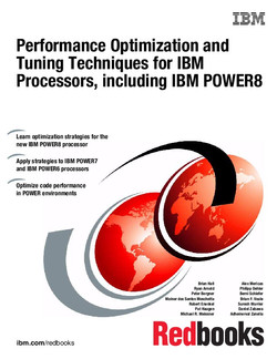Performance Optimization and Tuning Techniques for IBM Processors, including IBM POWER8
