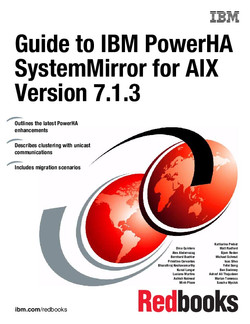 Guide to IBM PowerHA SystemMirror for AIX Version 7.1.3
