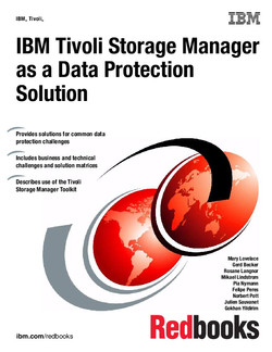 IBM Tivoli Storage Manager as a Data Protection Solution