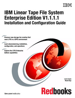 IBM Linear Tape File System Enterprise Edition V1.1.1.1 Installation and Configuration Guide