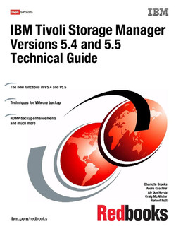 IBM Tivoli Storage Manager Versions 5.4 and 5.5 Technical Guide