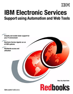 IBM Electronic Services Support using Automation and Web Tools