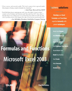 Formulas and Functions with Microsoft® Excel 2003