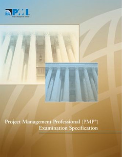 Project Management Professional (PMP®) Examination Specification