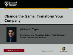 Change the Game, Transform Your Company