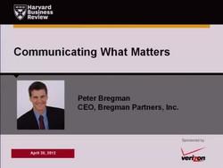 Communicating What Matters