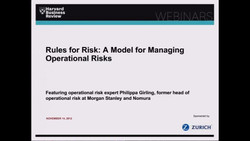 Rules for Risk: A Model for Managing Operational Risks