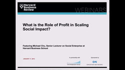 What Is the Role of Profit in Scaling Social Impact?