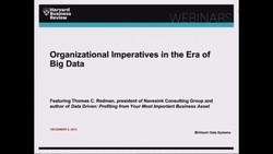 Organizational Imperatives in the Era of Big Data