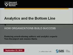 Analytics and the Bottom Line