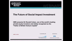 The Future of Social Impact Investment
