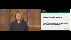 Big Data's Three Big Questions