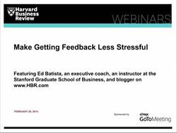 Make Getting Feedback Less Stressful