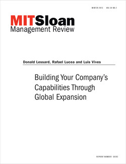Building Your Company's Capabilities Through Global Expansion