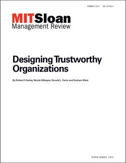 Designing Trustworthy Organizations