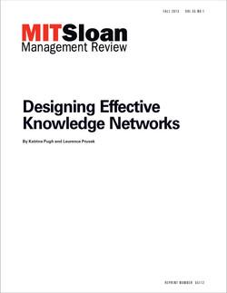 Designing Effective Knowledge Networks