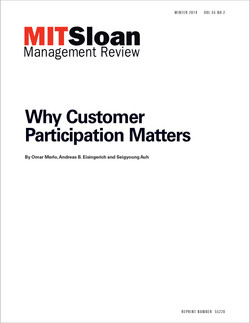Why Customer Participation Matters