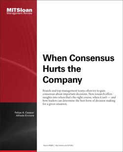 When Consensus Hurts the Company