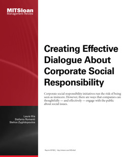 Creating Effective Dialogue About Corporate Social Responsibility