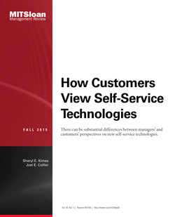 How Customers View Self-service Technologies