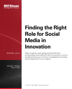 Finding the Right Role for Social Media in Innovation