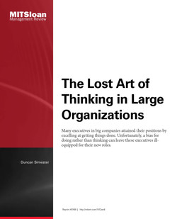 The Lost Art of Thinking in Large Organizations