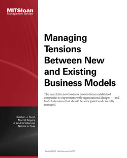 Managing Tensions Between New and Existing Business Models