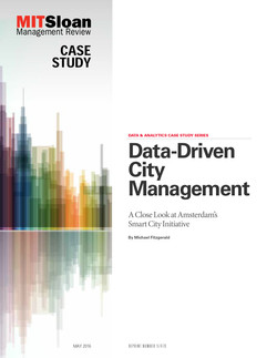 Data-Driven City Management: A Close Look at Amsterdam's Smart City Initiative
