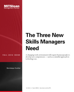 The Three New Skills Managers Need